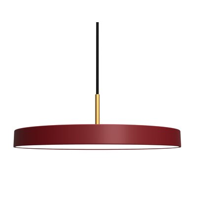 1-Light LED Drum Pendant Shade Color: Garnet