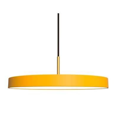 1-Light LED Drum Pendant Shade Color: Daffodil