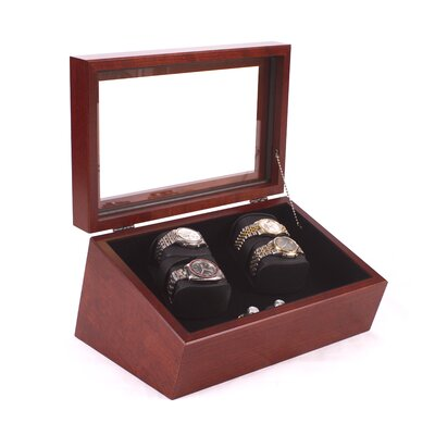 The General Quad Watch Winder Finish: Heritage Cherry