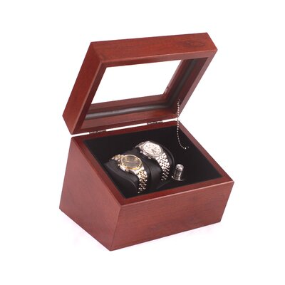 The Admiral Double Watch Winder Finish: Heritage Cherry