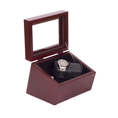 The Admiral Double Watch Winder Finish: Mahogany