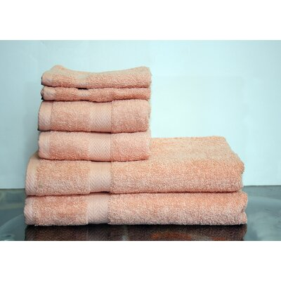 Deluxe 6 Piece Towel Set Color: Bisque