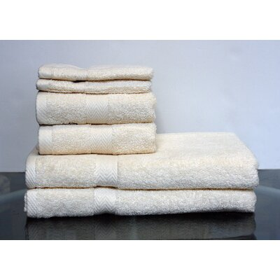 Hedgewick 6 Piece Towel Set Color: Ecru