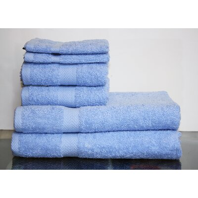 Hedgewick 6 Piece Towel Set Color: Ocean