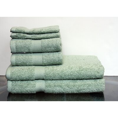 Hedgewick 6 Piece Towel Set Color: Pacific