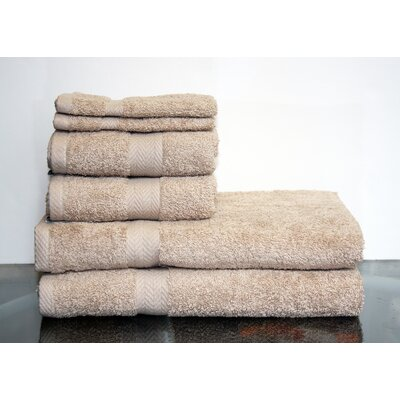 Deluxe 6 Piece Towel Set Color: Taupe
