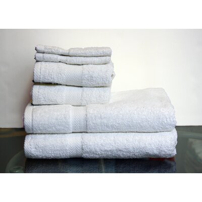 Hedgewick 6 Piece Towel Set Color: White