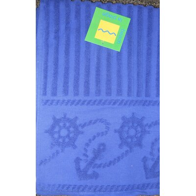 Anchor & Rope Towel Color: Royal