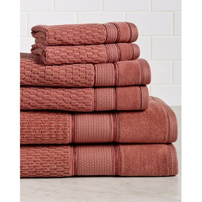 6 Piece Towel Set Color: Ginger