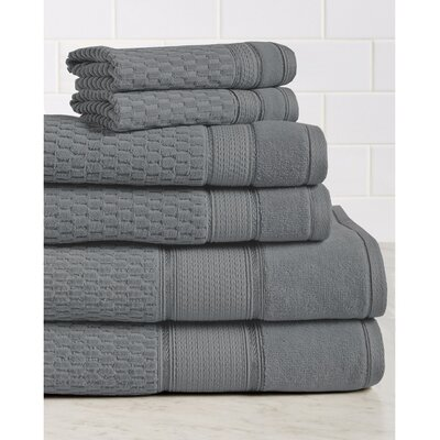 6 Piece Towel Set Color: Charcoal