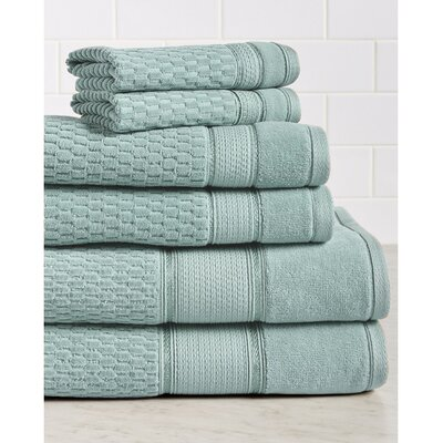 6 Piece Towel Set Color: Spa Blue