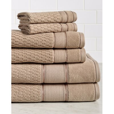 6 Piece Towel Set Color: Stucco