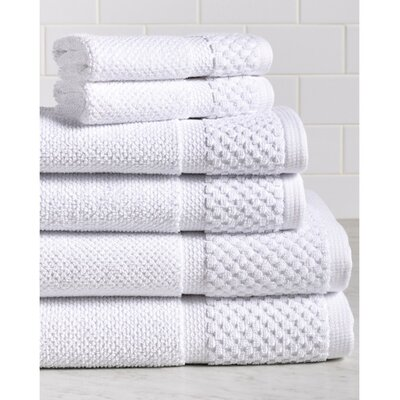 Idaho Falls 6 Piece Towel Set Color: White
