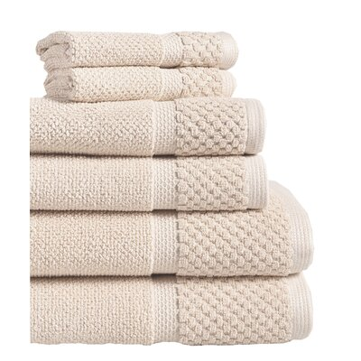 Idaho Falls 6 Piece Towel Set Color: Creme
