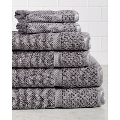 Idaho Falls 6 Piece Towel Set Color: Gray