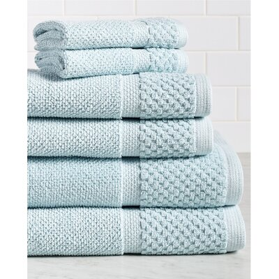 Idaho Falls 6 Piece Towel Set Color: Spa Blue
