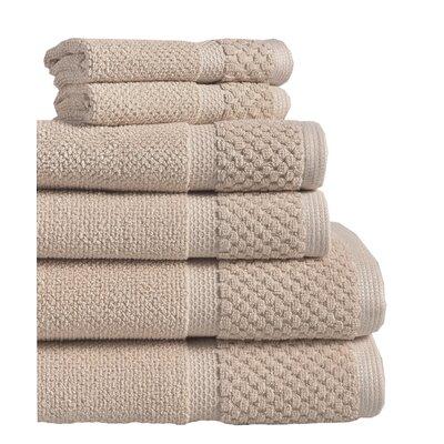 Idaho Falls 6 Piece Towel Set Color: Taupe