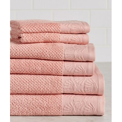 Daggett Coastal Shell Towel Set Color: Coral