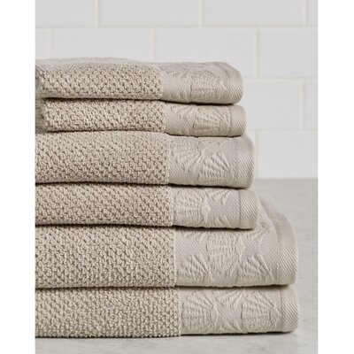 Daggett Coastal Shell Towel Set Color: Linen