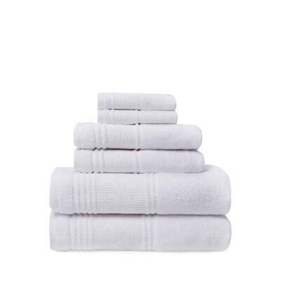 Tamekia 6 Piece Towel Set Color: White