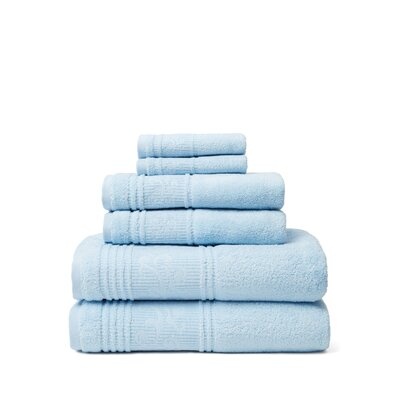 Tamekia 6 Piece Towel Set Color: Blue