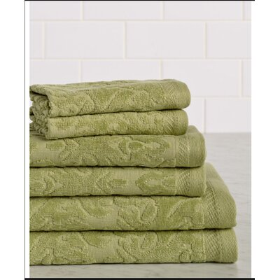 6 Piece Towel Set Color: Jade