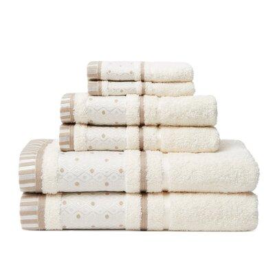6 Piece Towel Set Color: Creme