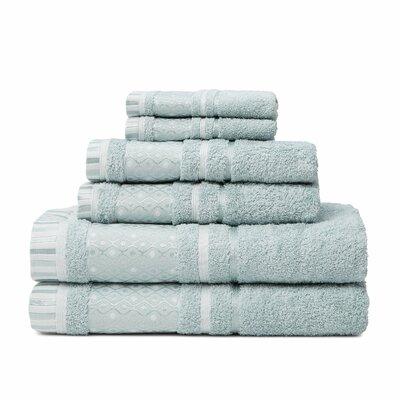 6 Piece Towel Set Color: Surf