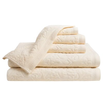 6 Piece Towel Set Color: Creme