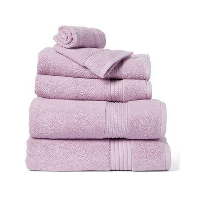 6 Piece Towel Set Color: Lavender