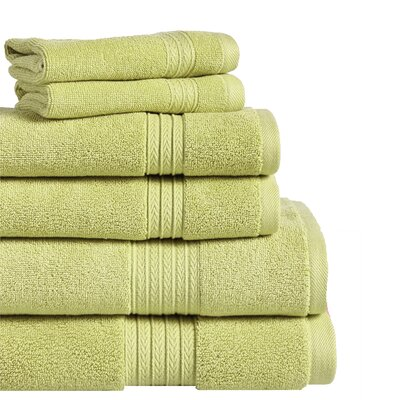 6 Piece Towel Set Color: Moss