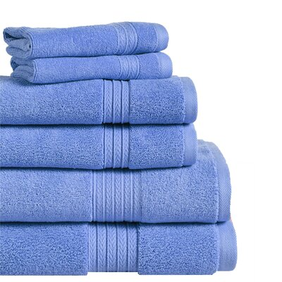 6 Piece Towel Set Color: Marina