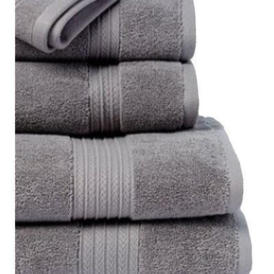 6 Piece Towel Set Color: Gun Metal