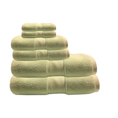 Zero Twist 6 Piece Towel Set Color: Celery