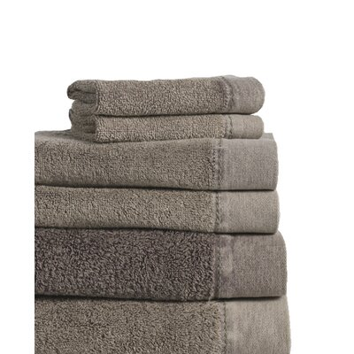 Stonewash Cotton 6 Piece Towel Set Color: Charcoal