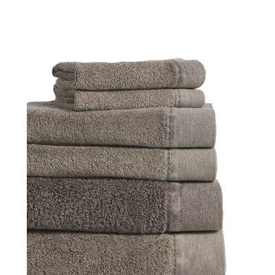 Stonewash Cotton 6 Piece Towel Set Color: Charcoal