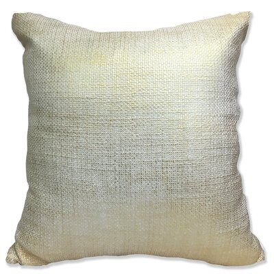 Foil Weave Decorative Throw Pillow Color: Silver