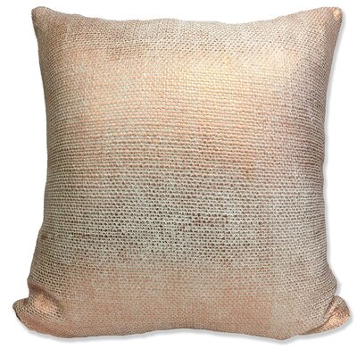 Foil Weave Decorative Throw Pillow Color: Copper