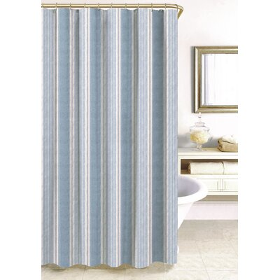 Savannah Stripe Shower Curtain Size: 96 H x 72 W