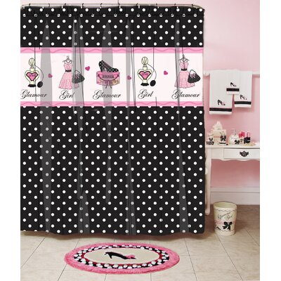 Glamour Polka Dot Shower Curtain