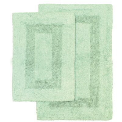 Athens 2 Piece Bath Rug Set Color: Seafoam