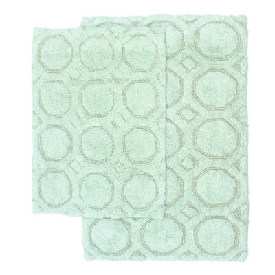Hartford 2 Piece Bath Rug Set Color: Seafoam