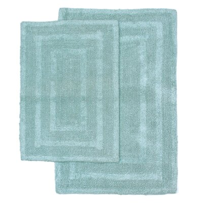Monaco 2 Piece Bath Rug Set Color: Spa Blue