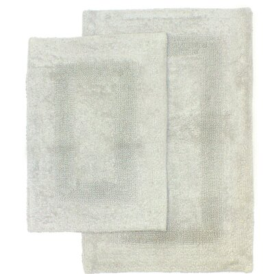 Athens 2 Piece Bath Rug Set Color: Gray