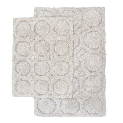 Hartford 2 Piece Bath Rug Set Color: Light Gray