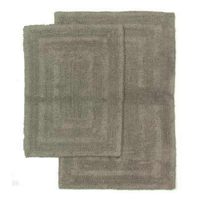Monaco 2 Piece Bath Rug Set Color: Charcoal