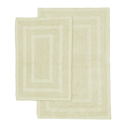 Monaco 2 Piece Bath Rug Set Color: Bone