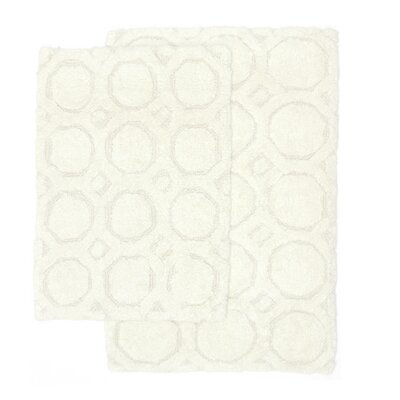 Hartford 2 Piece Bath Rug Set Color: White