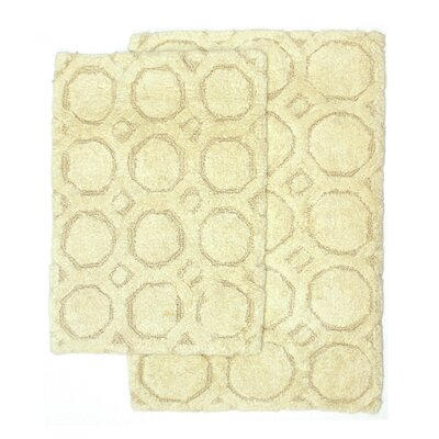 Hartford 2 Piece Bath Rug Set Color: Bone