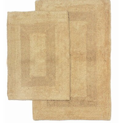Athens 2 Piece Bath Rug Set Color: Latte